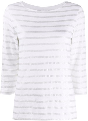 Majestic Filatures metallic stripe T-shirt