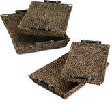 Studio Nova Set of 4 Seagrass Brown Nesting Trays