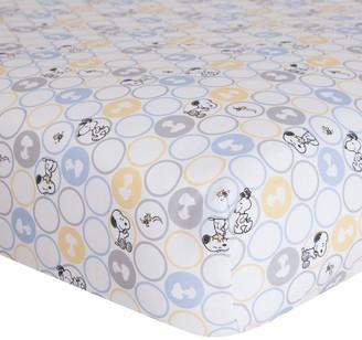 Lambs & Ivy Peanuts My Little Snoopy Crib Sheet