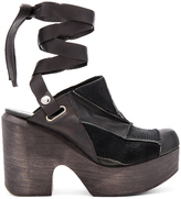 Free People Into the Patchwork Cow Hair Clog