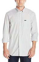 Façonnable Men's Classic Fit Exclusive Poplin Stripe Woven