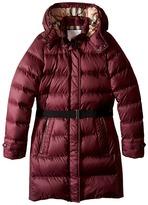 Burberry Mini-Dalesford Checked Interior Jacket Girl's Coat