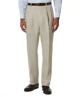 Brooks Brothers Irish Linen Pleat-Front Trousers