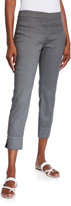 120% Lino Side Zip Stretch Capri Pants