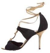 Pierre Hardy Woven T-Strap Sandals
