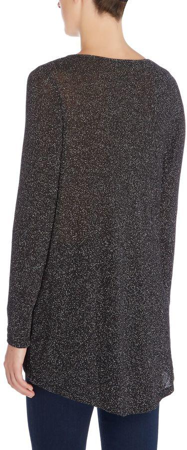 Wal G Wal-G Long sleeve drape glitter jumper