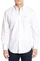 Thomas Dean Men's 'Lsu Tigers' Regular Fit Long Sleeve Sport Shirt