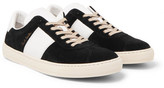 Paul Smith Levon Leather-Trimmed Suede Sneakers