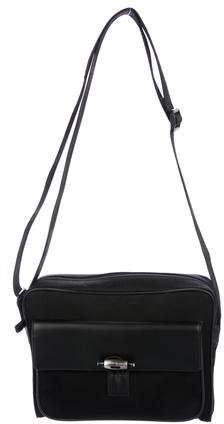 Montblanc Leather-Trimmed Canvas Messenger Bag