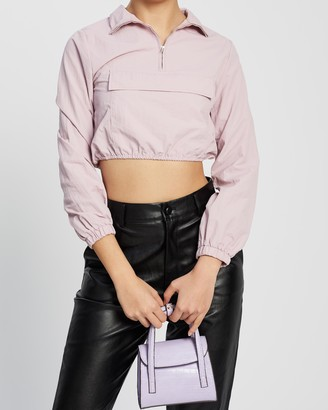 Missguided Shell Front Pocket Crop Jacket