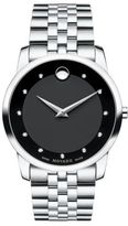 Movado Museum Classic Stainless Steel Diamond Bracelet Watch