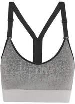 adidas Stretch-knit Sports Bra - Gray