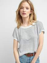Stripe boatneck sweater tee