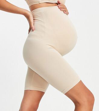 Mama Licious Mamalicious Maternity over the bump shapewear shorts in nude