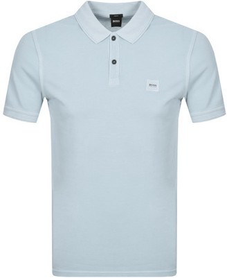 BOSS Prime Short Sleeved Polo T Shirt Blue