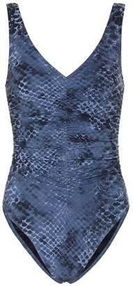 Karla Colletto Bree snakeskin-print swimsuit