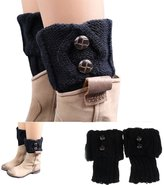 Tonsee Crochet Knit Boot Socks Toppers Cuffs
