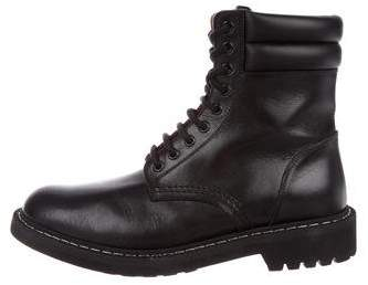 Givenchy Leather Combat Ankle Boots w/ Tags