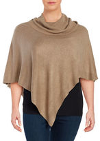 Context Plus Cowlneck Knit Poncho