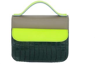 Kartu Studio Heath Mini Top Handle Purse - Sand Dark Green Reptile Neon