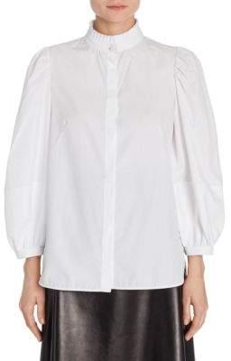 Alexander McQueen Balloon Sleeve Ruff Collar Shirt