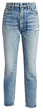 Moussy Women's Everett High-Rise Boyfriend Skinny Ankle Jeans