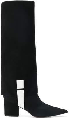 L'Autre Chose panelled monochrome boots