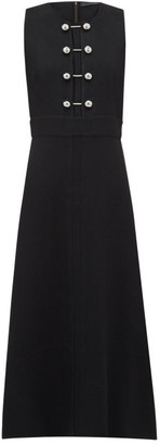 Proenza Schouler Bar-embellished Cut-out Crepe Dress - Black