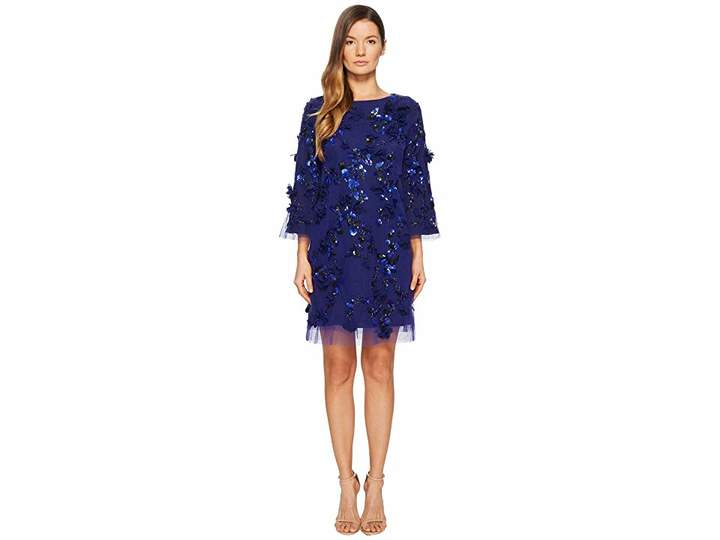 Marchesa Embroidered Tunic with Sequins and Beads Women's Dress