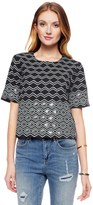 Juicy Couture Ponte Zenith Geo Sequin Top