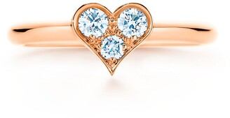 Tiffany & Co. HeartsTM ring in 18k rose gold with diamonds