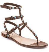 Valentino Multi-Studded Leather Gladiator Thong Sandals