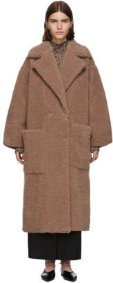 Nanushka Pink Faux-Fur Imogen Maxi Coat