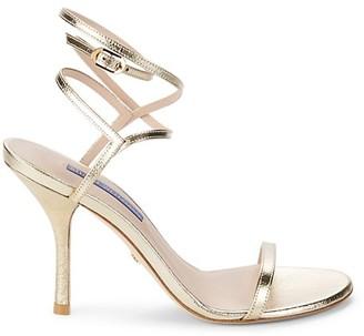 Stuart Weitzman Merinda Leather Stiletto Sandals