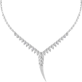 Stephen Webster Magnipheasant 18k White Gold Pave Diamond Long-Drop Collar Necklace