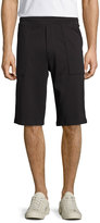 Vince Cotton Pull-On Knit Shorts, Black