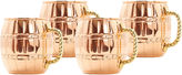 Old Dutch 16 Oz Solid Copper Barrel Mule Mugs Setof 4