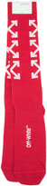 Off-White arrow socks - women - Cotton/Nylon/Polyester/Spandex/Elastane - One Size