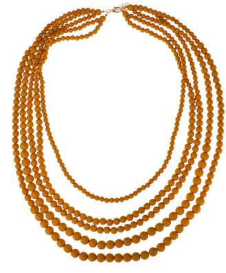 BIJOUX BAR Bijoux Bar Mustard Beaded Necklace