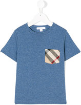 Burberry checked chest pocket T-shirt