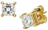 Charles & Colvard 1.00 CT. T.W. Forever Brilliant® Cushion Moissanite Solitaire Prong Set Earrings in 14K Yellow Gold