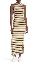 Velvet Torch Striped Mock Neck Sleeveless Maxi Dress