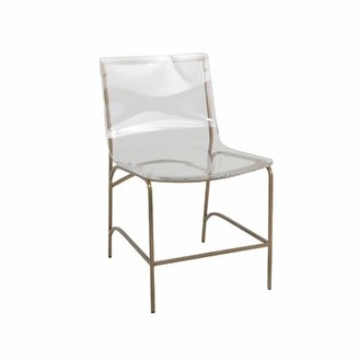 clear Penelope Side Chair in Gabby Color: Gold