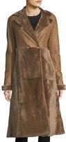 Max Mara Double-Breasted Shearling Fur Coat