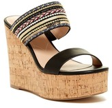 Charles by Charles David Devi Smooth Beaded Wedge Platform Sandal