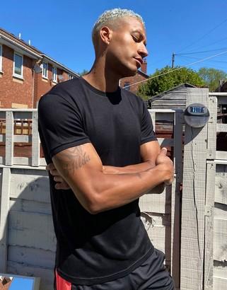 Celio knitted tshirt in black