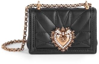 Dolce & Gabbana Devotion Leather Crossbody Micro Bag