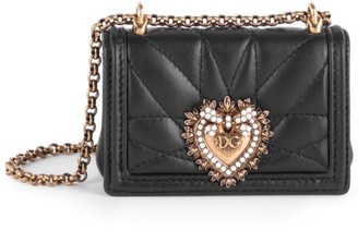 Dolce & Gabbana Micro Devotion Quilted Leather Shoulder Bag