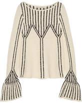 Ulla Johnson Beatriz Bouclé-knit Cotton Sweater - Cream