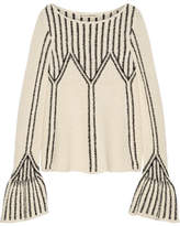 Ulla Johnson Beatriz Bouclé-knit Cotton Sweater